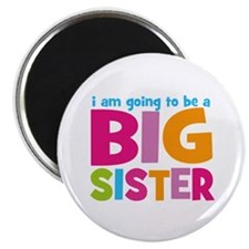 "Big Sister Personalized 2.25"" Magnet (10 pack)"