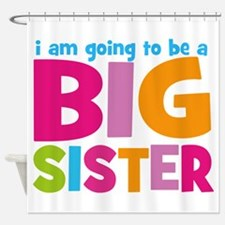 Big Sister Personalized Shower Curtain