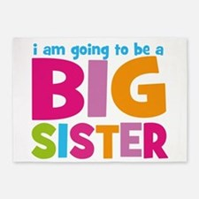 Big Sister Personalized 5'x7'Area Rug