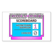 Cancer Scoreboard Pink Decal