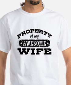 Property Of My Awesome Wife Shirt