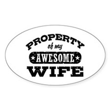 Property Of My Awesome Wife Decal