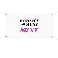 World's Best Aunt (Bird) Banner