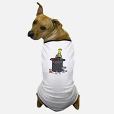 Champagne in Hat Happy New Ye Dog T-Shirt