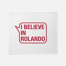 I Believe In Rolando Throw Blanket