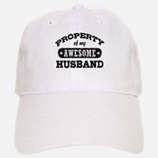 Property Of My Awesome Husband Baseball Baseball Cap