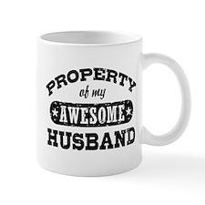 Property Of My Awesome Husband Mug