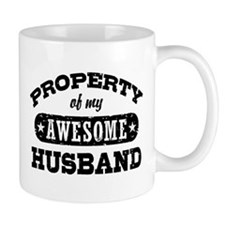 Property Of My Awesome Husband Mug