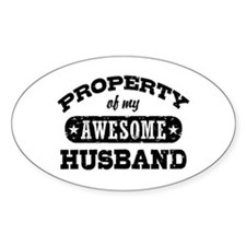 Property Of My Awesome Husband Decal