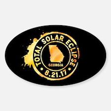 Eclipse Georgia Sticker (Oval)