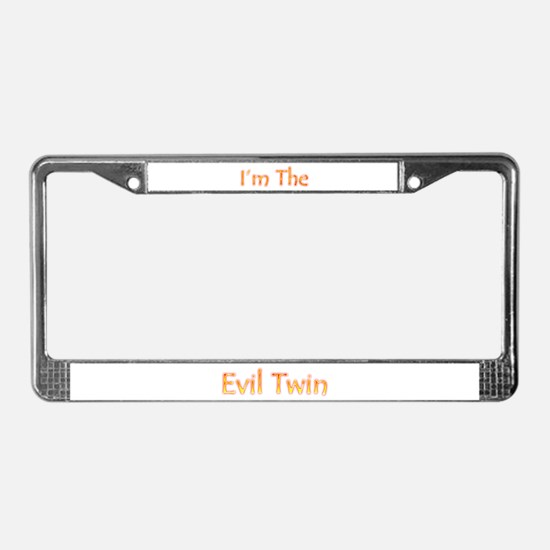 I'm The Evil Twin License Plate Frame