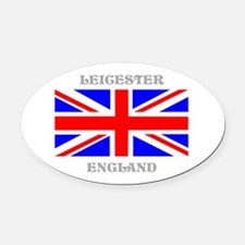 Leicester England Oval Car Magnet