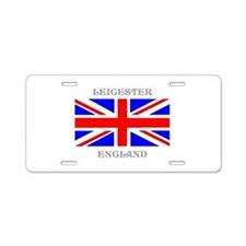 Leicester England Aluminum License Plate