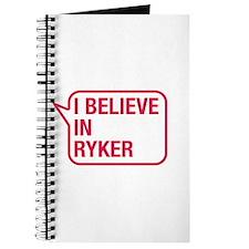 I Believe In Ryker Journal
