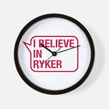 I Believe In Ryker Wall Clock
