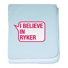 I Believe In Ryker baby blanket