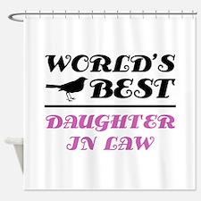 World's Best Daughter-In-Law (Bird) Shower Curtain