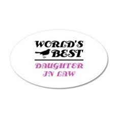World's Best Daughter-In-Law (Bird) 20x12 Oval Wal