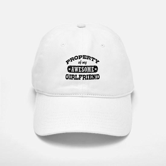 Property Of My Awesome Girlfriend Baseball Baseball Cap