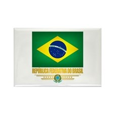 Flag of Brazil Rectangle Magnet (10 pack)