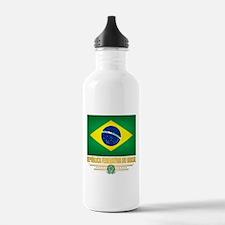 Flag of Brazil Water Bottle