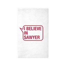 I Believe In Sawyer 3'x5' Area Rug