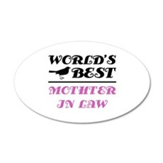 World's Best Mother-In-Law (Bird) 20x12 Oval Wall