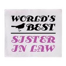 World's Best Sister-In-Law (Bird) Throw Blanket