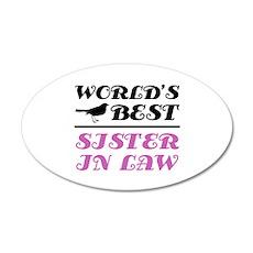 World's Best Sister-In-Law (Bird) 20x12 Oval Wall