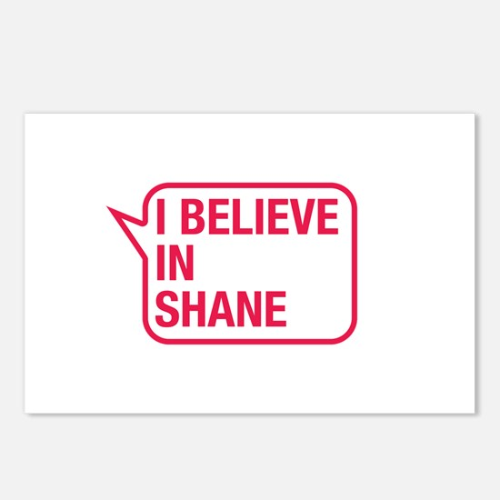 I Believe In Shane Postcards (Package of 8)