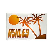 """Ashley Tropical"" Rectangle Magnet"
