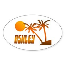 """Ashley Tropical"" Oval Decal"