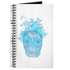 Blue Fire Skull Journal