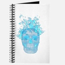 Blue Fire Skull Journal