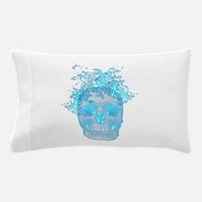 Blue Fire Skull Pillow Case