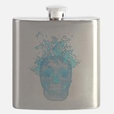 Blue Fire Skull Flask