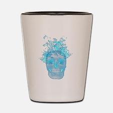 Blue Fire Skull Shot Glass