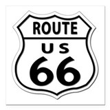 Route 66 Square Car Magnets