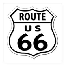 "U.S. ROUTE 66 Square Car Magnet 3"" x 3"""