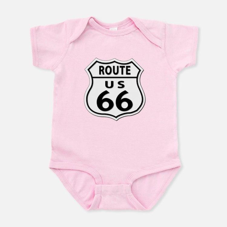 U.S. ROUTE 66 Infant Bodysuit