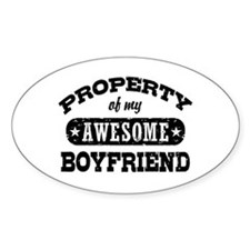 Property Of My Awesome Boyfriend Decal