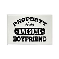 Property Of My Awesome Boyfriend Rectangle Magnet