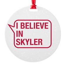 I Believe In Skyler Ornament