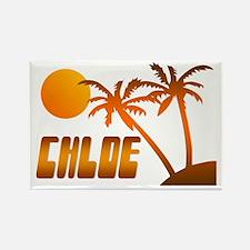 """Chloe Tropical"" Rectangle Magnet"