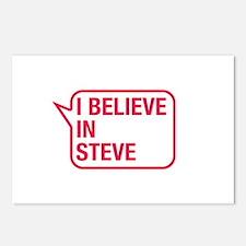 I Believe In Steve Postcards (Package of 8)