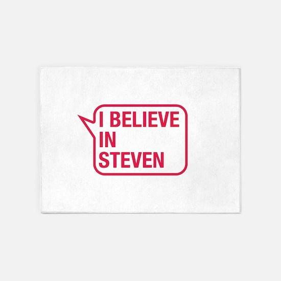 I Believe In Steven 5'x7'Area Rug