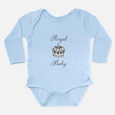 Royal Baby & Crown Long Sleeve Infant Bodysuit