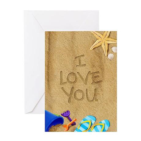 Beach I Love You Greeting Card