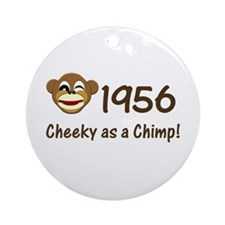 1956, Cheeky Chimp Ornament (Round)