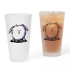 KiniArt Dust Bunny Drinking Glass